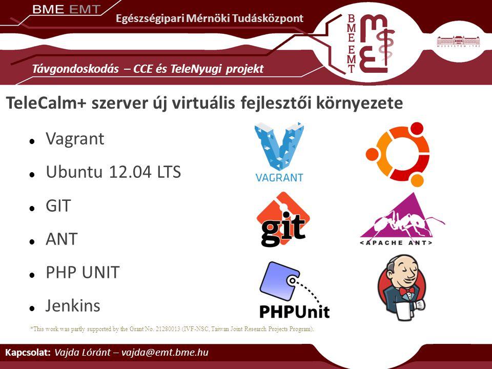 TeleCalm+ szerver új virtuális fejlesztői környezete