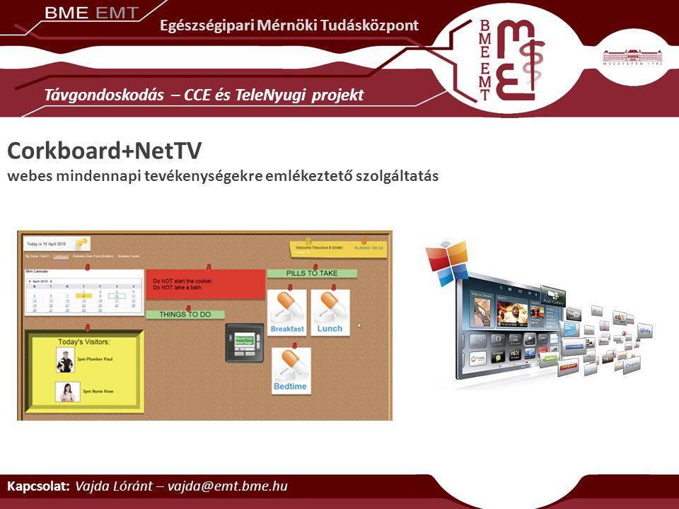 Corkboard+NetTV Távgondoskodás – CCE és TeleNyugi projekt