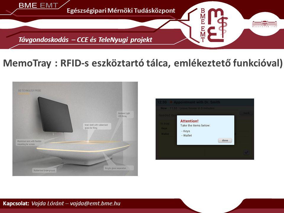 MemoTray : RFID-s eszköztartó tálca, emlékeztető funkcióval)