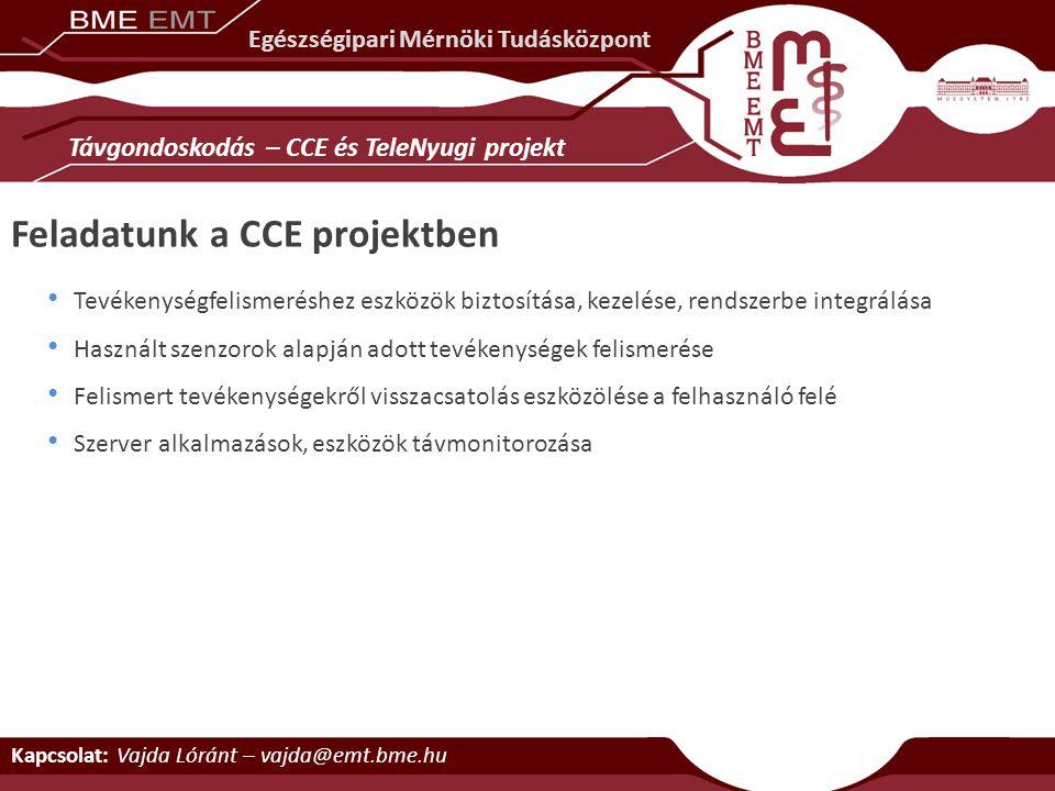 Feladatunk a CCE projektben