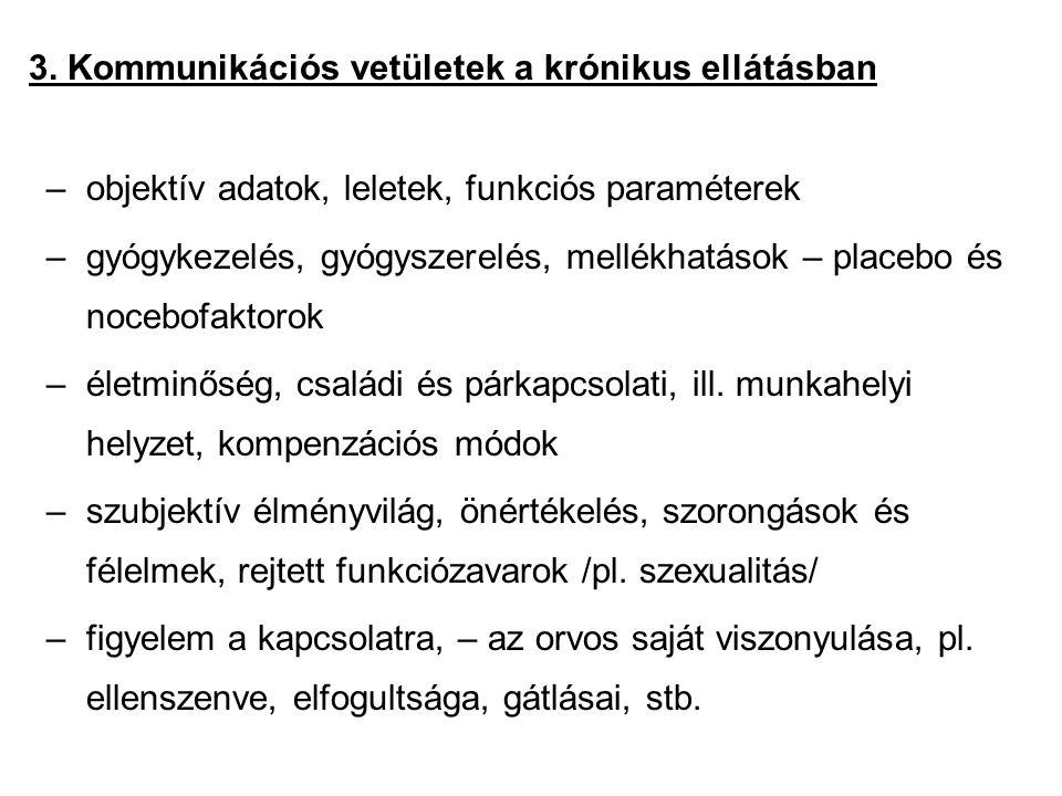 3. Kommunikációs vetületek a krónikus ellátásban
