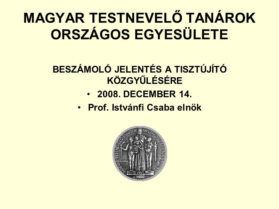MAGYAR TESTNEVELŐ TANÁROK ORSZÁGOS EGYESÜLETE