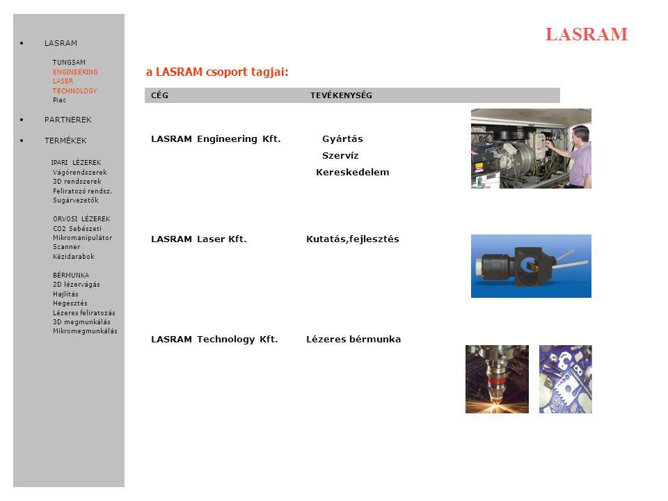 LASRAM a LASRAM csoport tagjai: LASRAM Engineering Kft. Gyártás