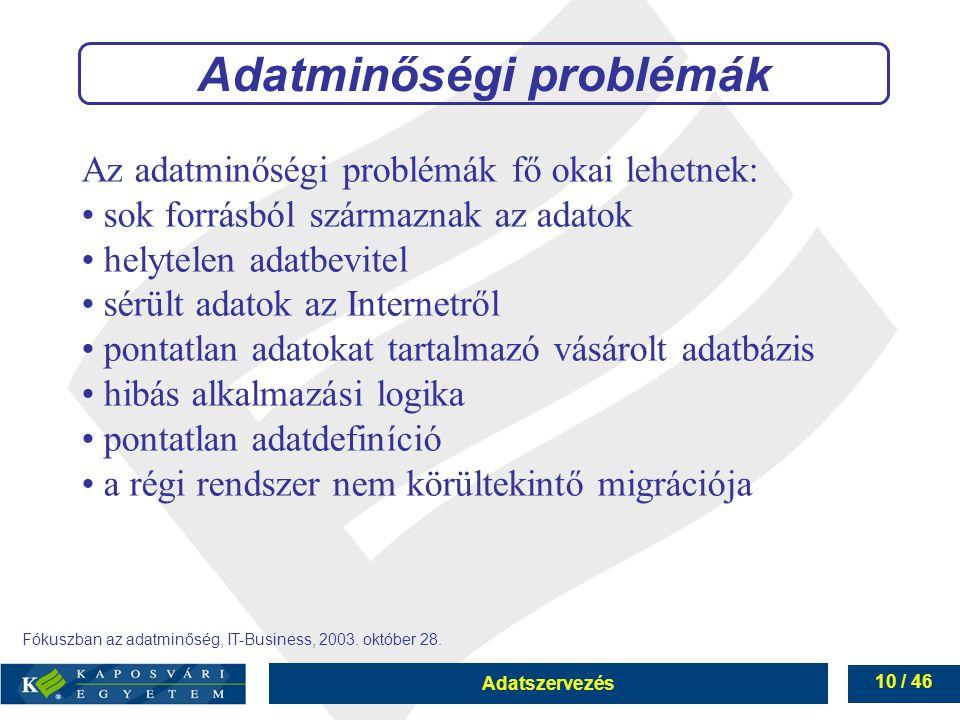 Adatminőségi problémák