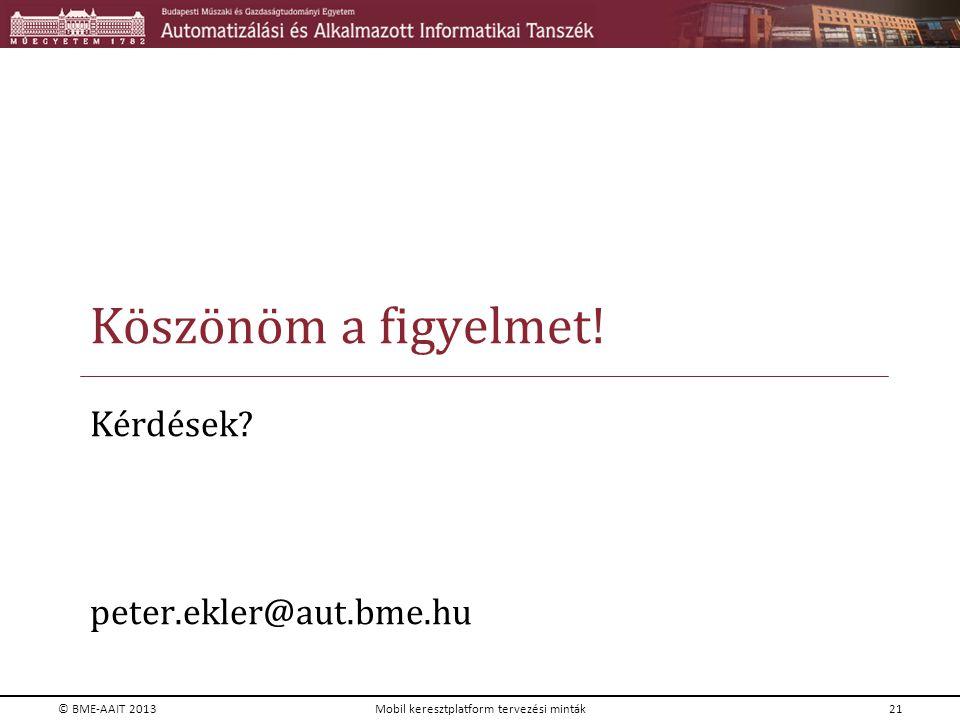 Kérdések peter.ekler@aut.bme.hu