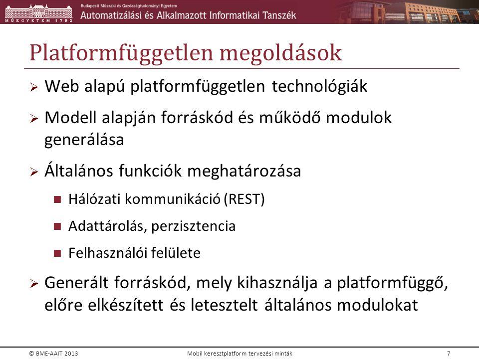 Platformfüggetlen megoldások
