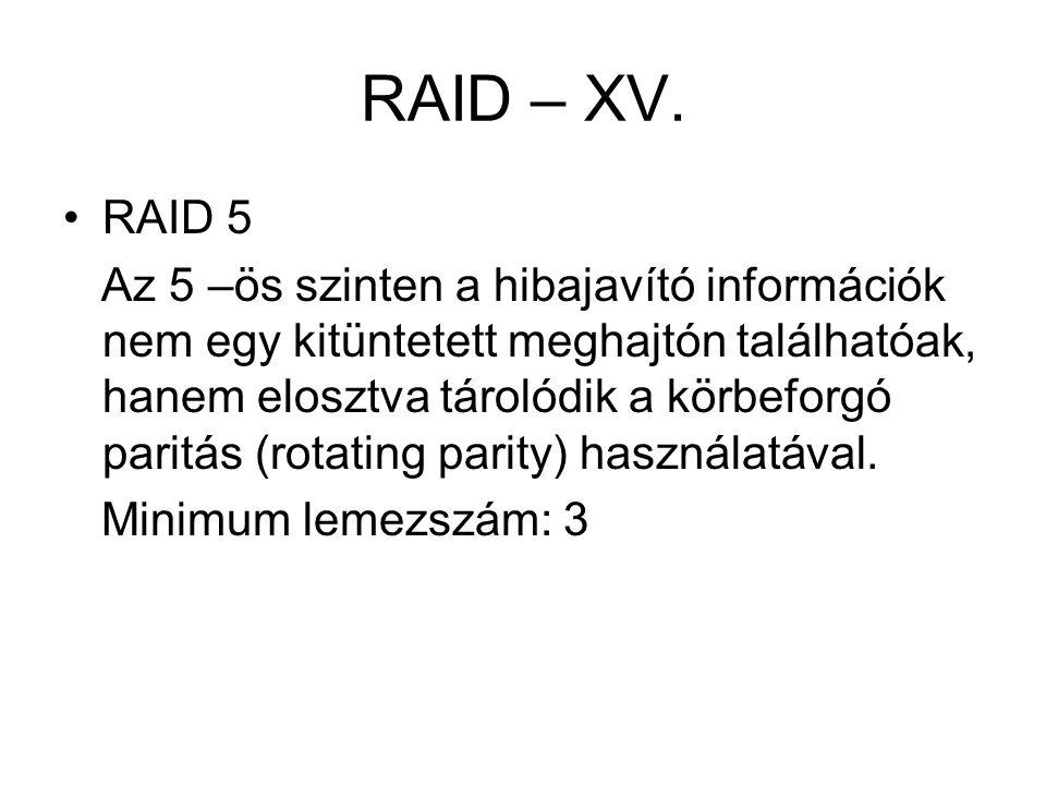 RAID – XV. RAID 5.