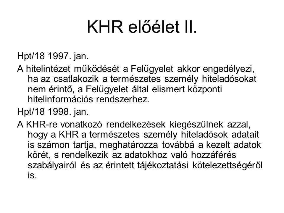 KHR előélet II. Hpt/18 1997. jan.