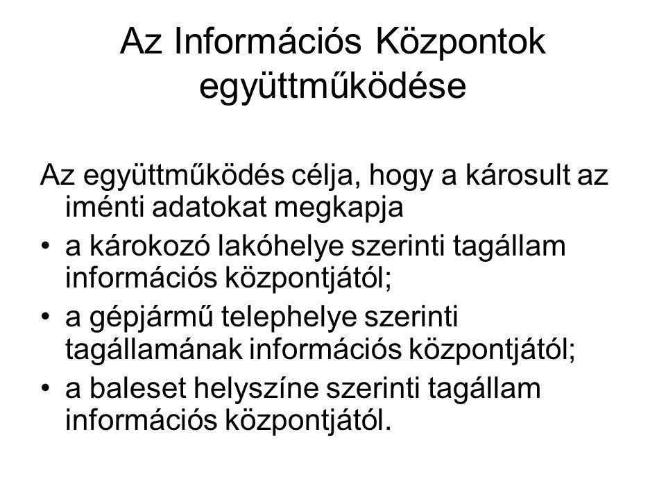 Az Információs Központok együttműködése