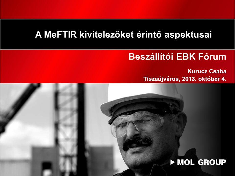 Beszállítói EBK Fórum Kurucz Csaba Tiszaújváros, 2013. október 4.