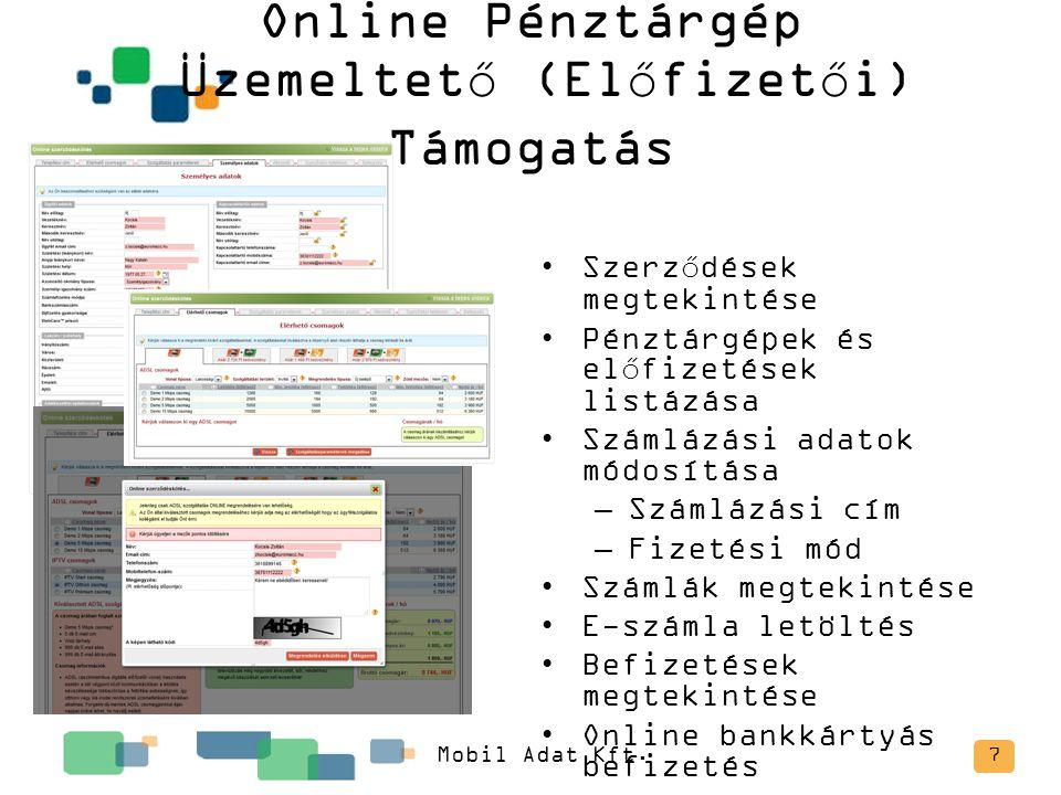 Online Pénztárgép Üzemeltető (Előfizetői) Támogatás