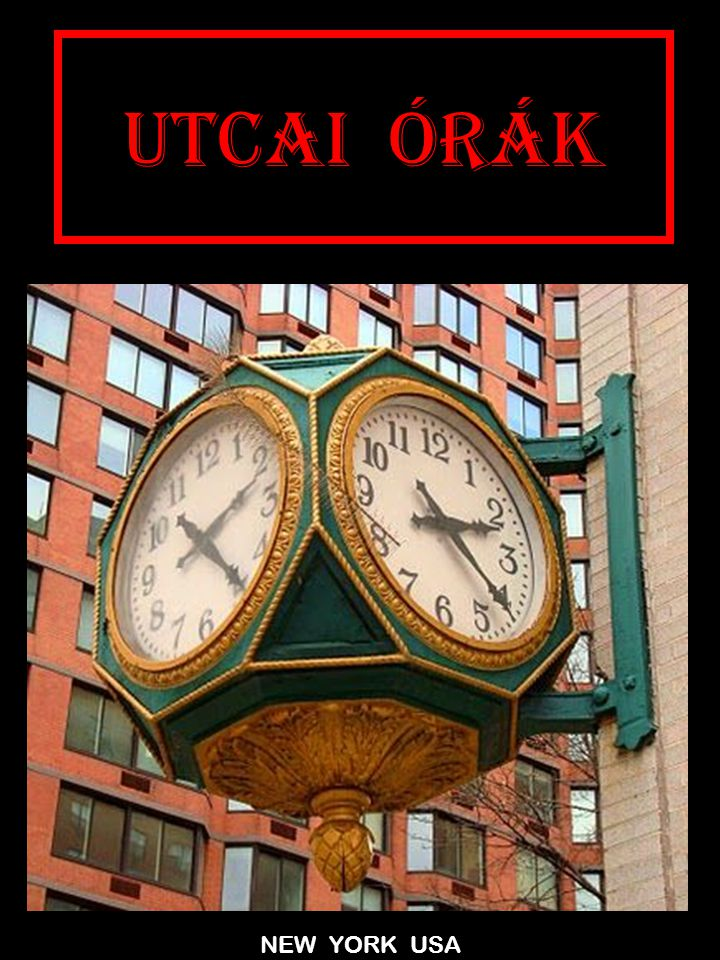 UTCAI ÓRÁK NEW YORK USA