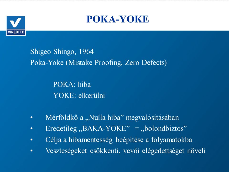 POKA-YOKE Shigeo Shingo, 1964