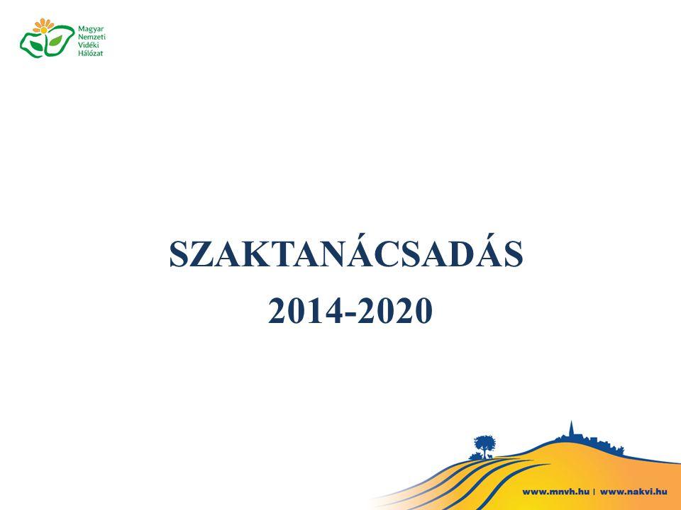 SZAKTANÁCSADÁS 2014-2020