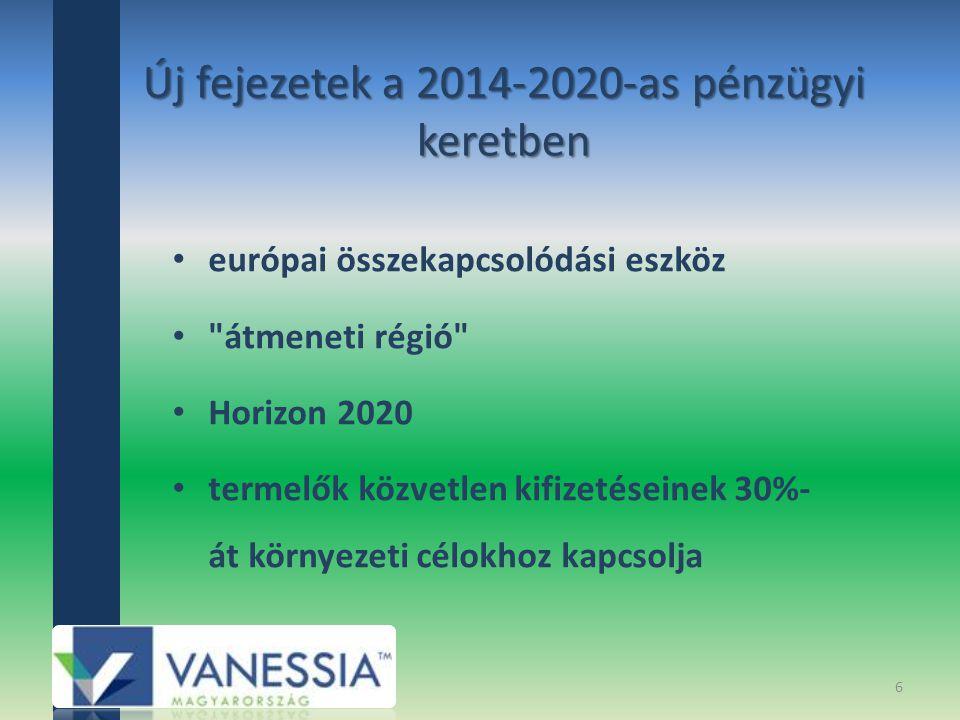 Új fejezetek a 2014-2020-as pénzügyi keretben
