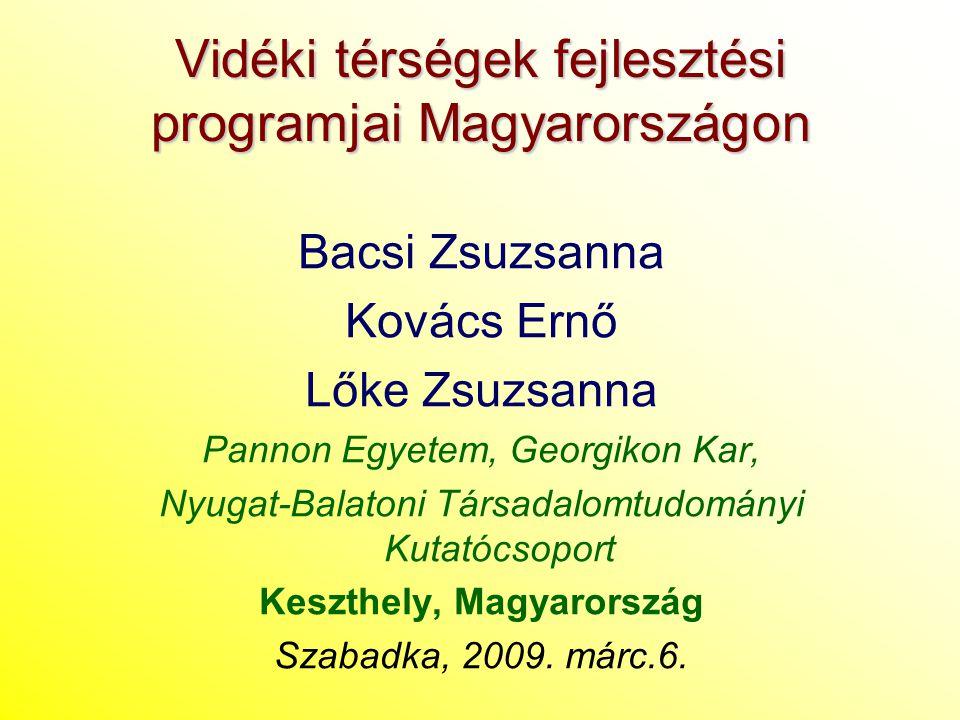 Vidéki térségek fejlesztési programjai Magyarországon