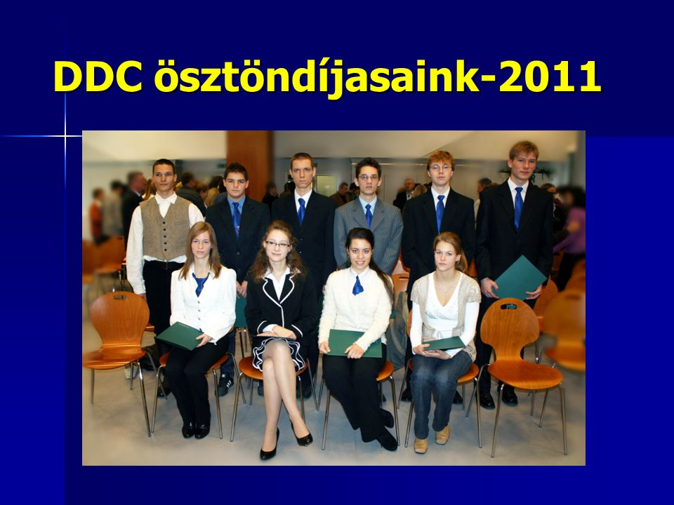 DDC ösztöndíjasaink-2011