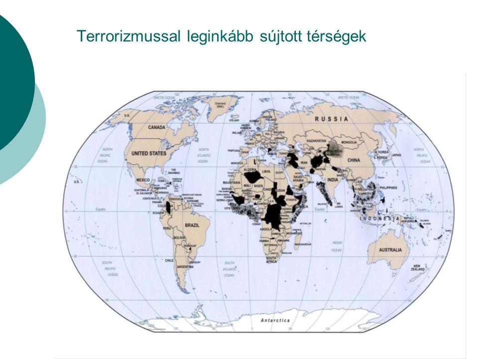 Terrorizmussal leginkább sújtott térségek