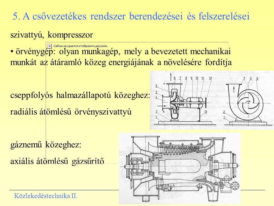 5. A csővezetékes rendszer berendezései és felszerelései