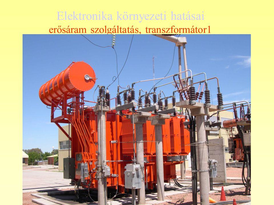 Elektronika környezeti hatásai erősáram szolgáltatás, transzformátor1