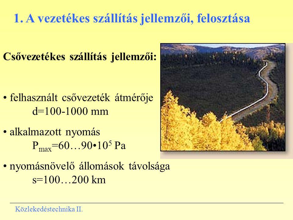 1. A vezetékes szállítás jellemzői, felosztása