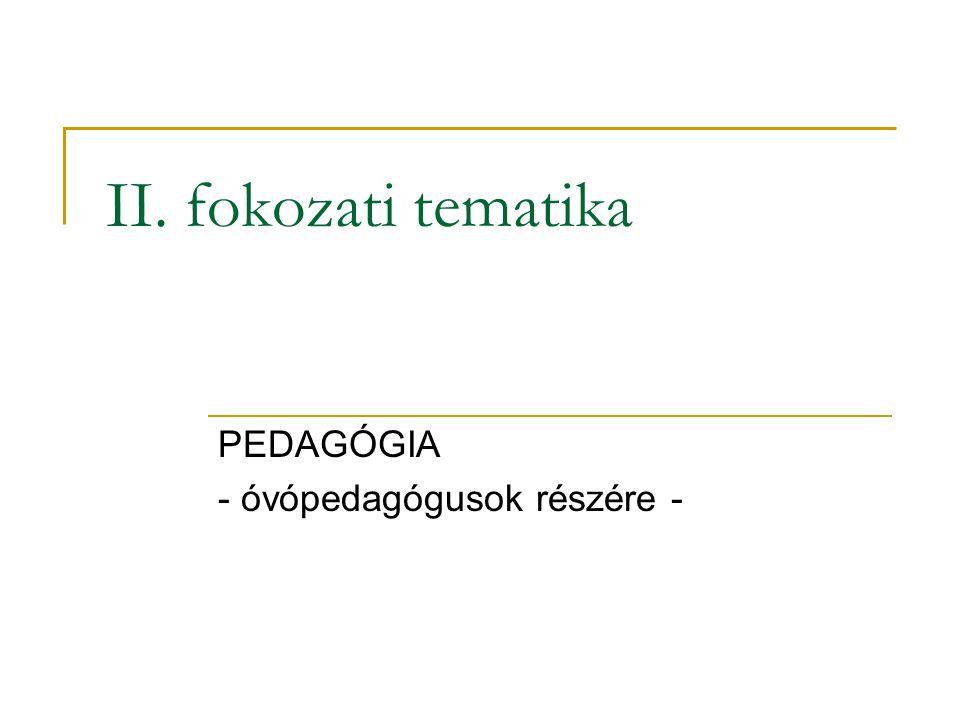 PEDAGÓGIA - óvópedagógusok részére -