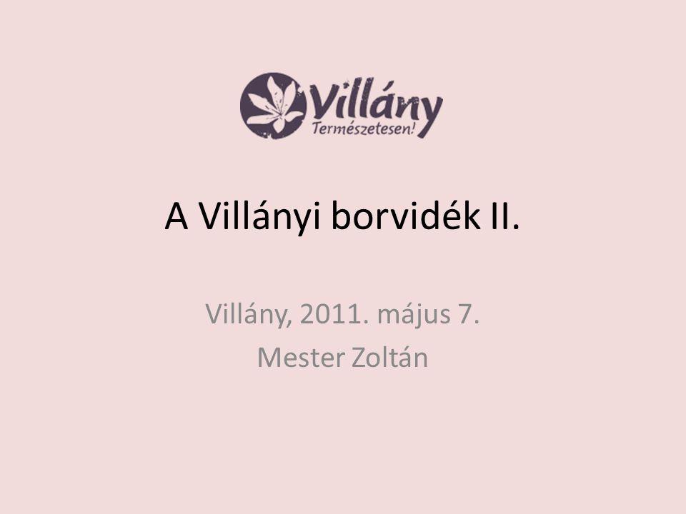 Villány, 2011. május 7. Mester Zoltán