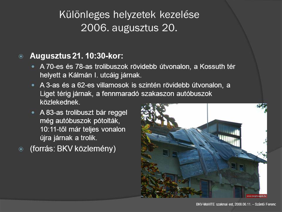 Különleges helyzetek kezelése 2006. augusztus 20.