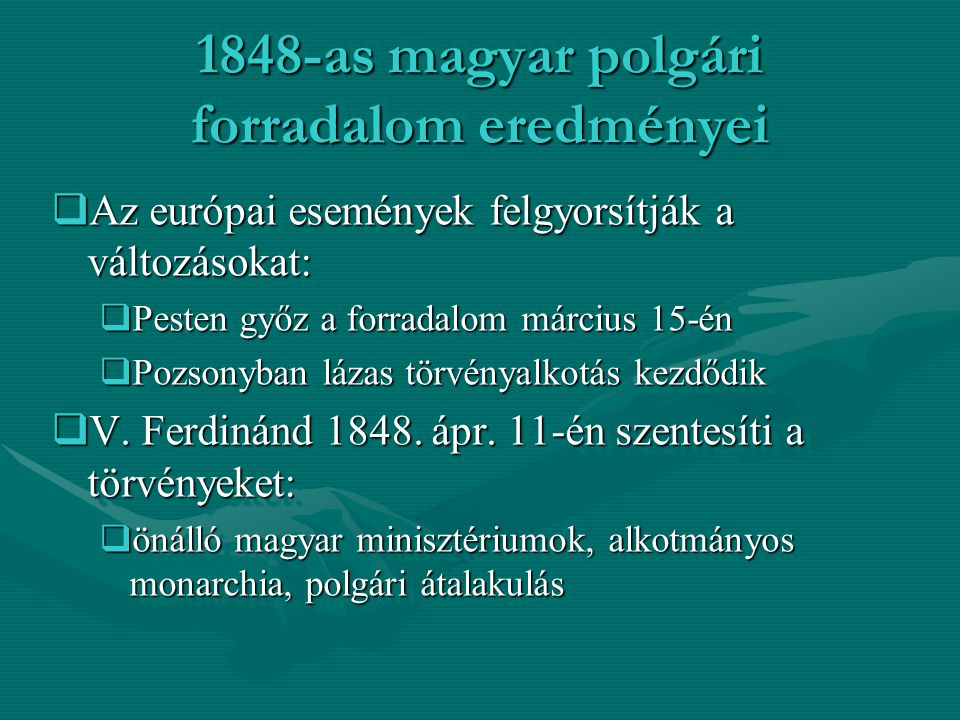 1848-as magyar polgári forradalom eredményei