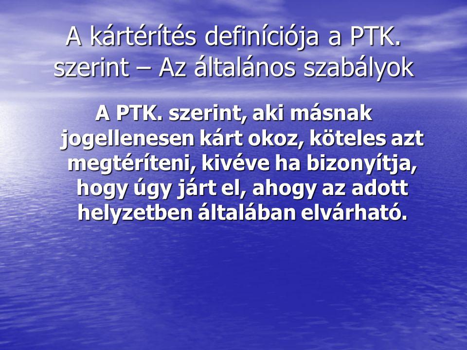 A kártérítés definíciója a PTK. szerint – Az általános szabályok