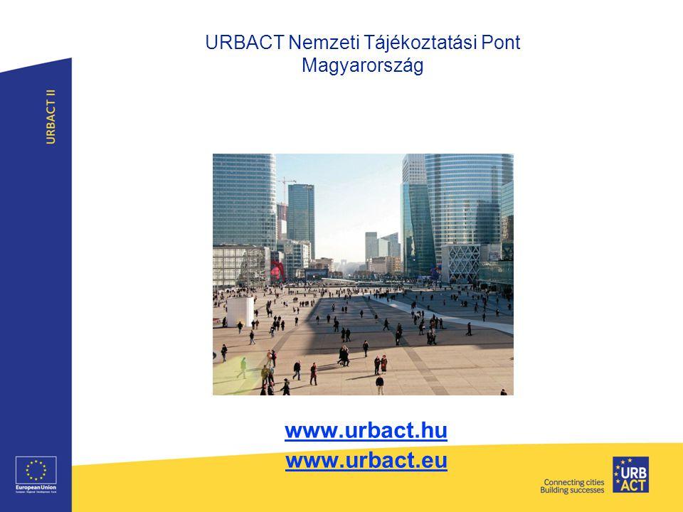 URBACT Nemzeti Tájékoztatási Pont Magyarország