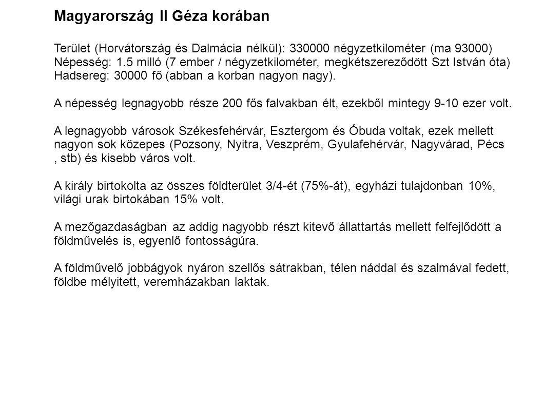 Magyarország II Géza korában