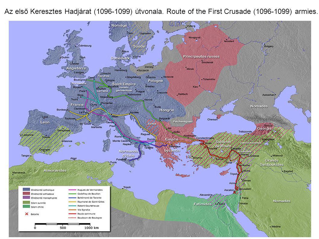 Az első Keresztes Hadjárat (1096-1099) útvonala