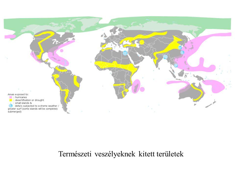 Természeti veszélyeknek kitett területek