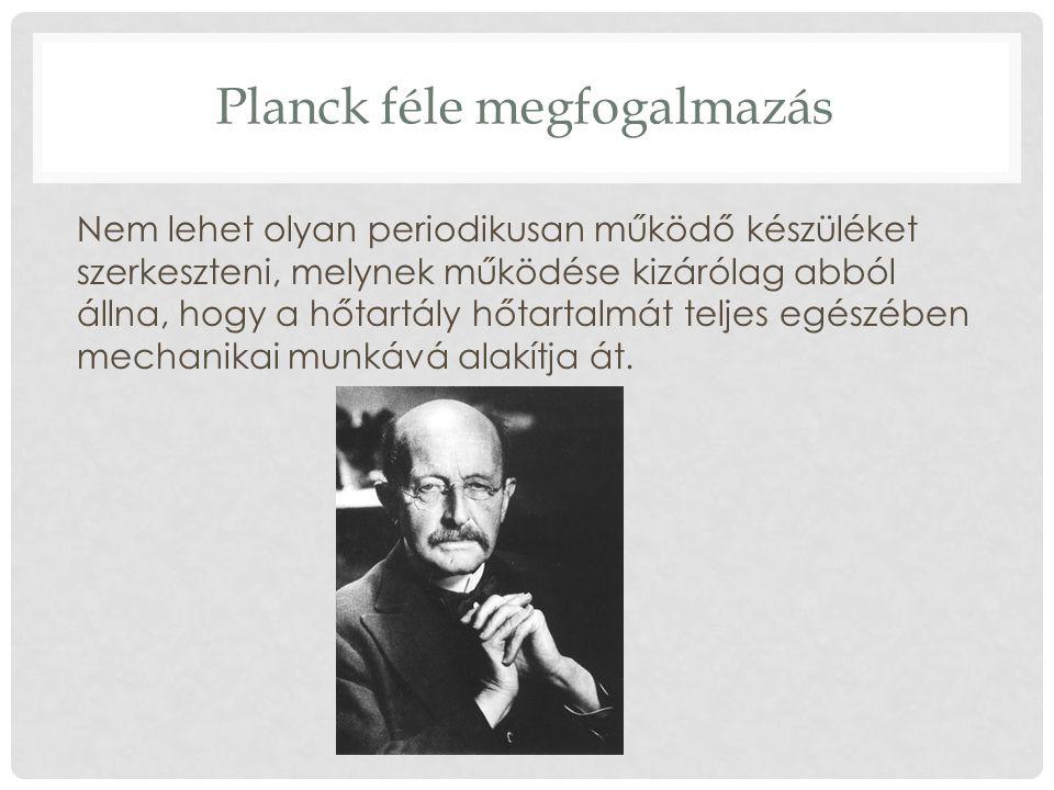 Planck féle megfogalmazás