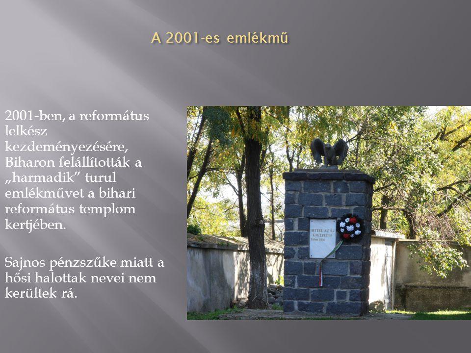A 2001-es emlékmű