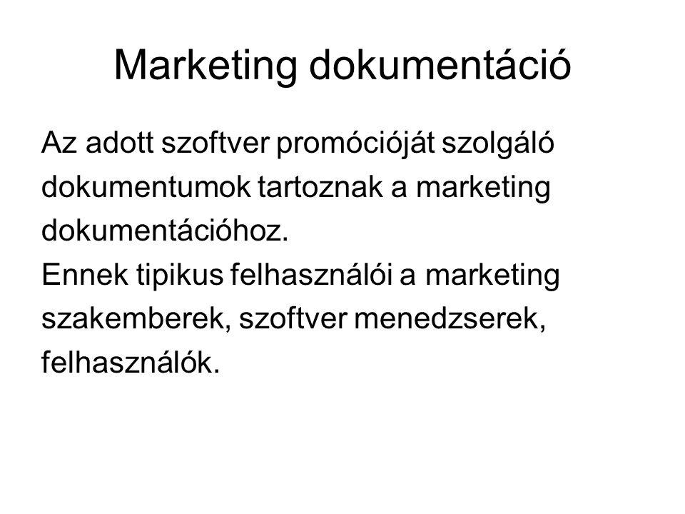 Marketing dokumentáció
