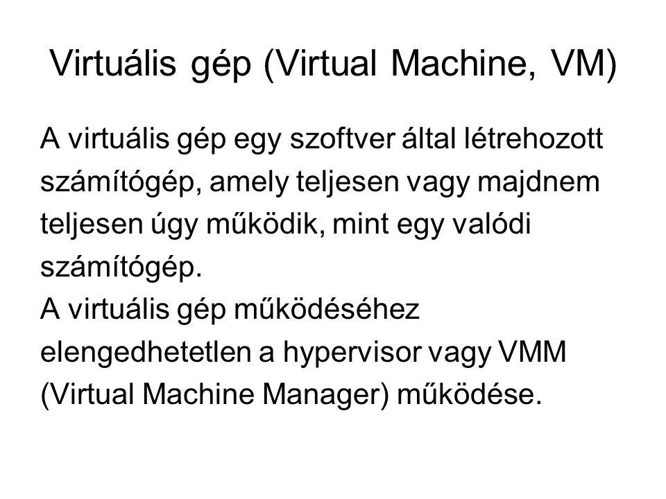 Virtuális gép (Virtual Machine, VM)