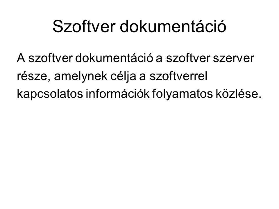 Szoftver dokumentáció