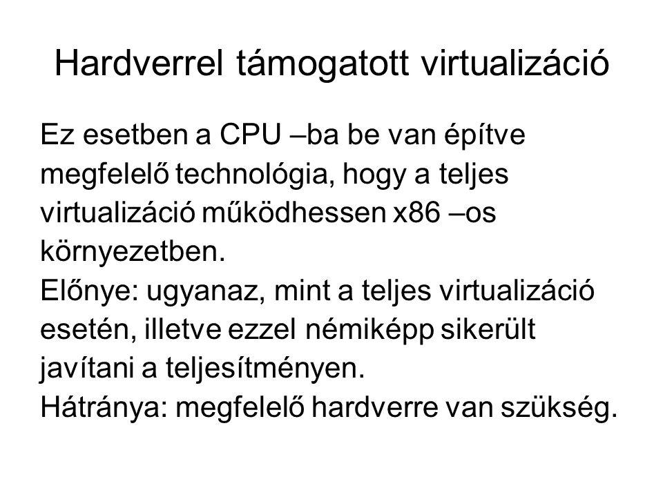 Hardverrel támogatott virtualizáció