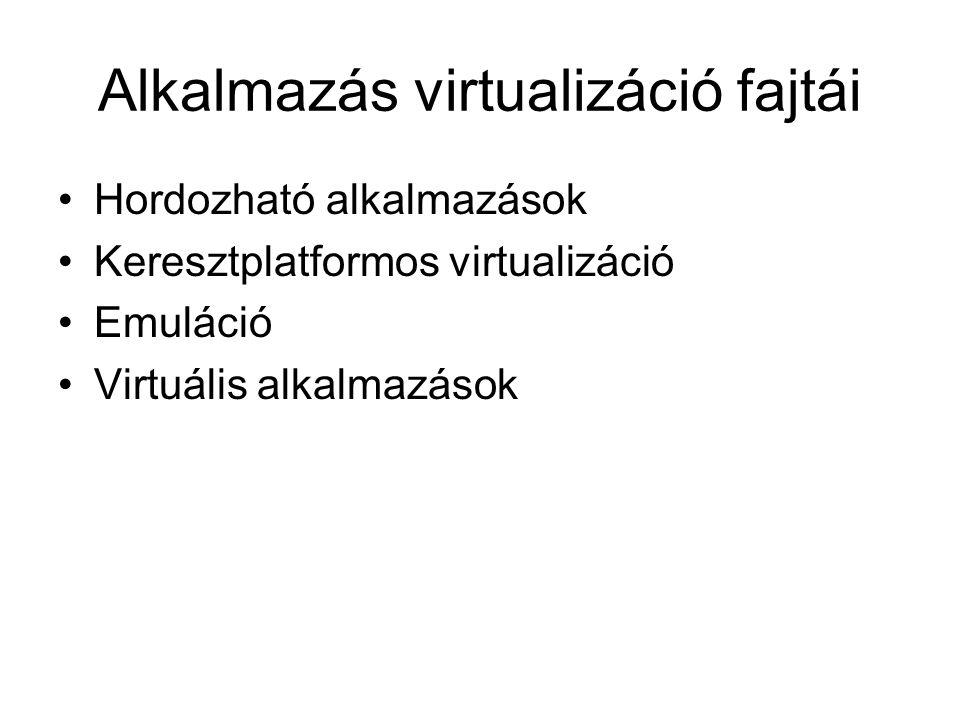 Alkalmazás virtualizáció fajtái
