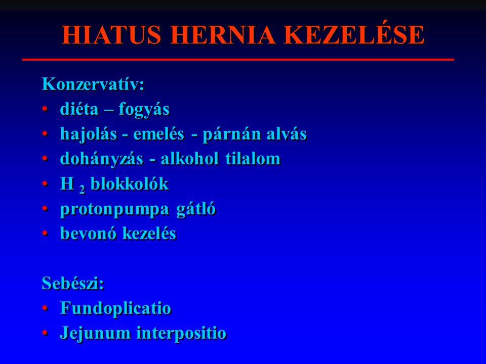 HIATUS HERNIA KEZELÉSE