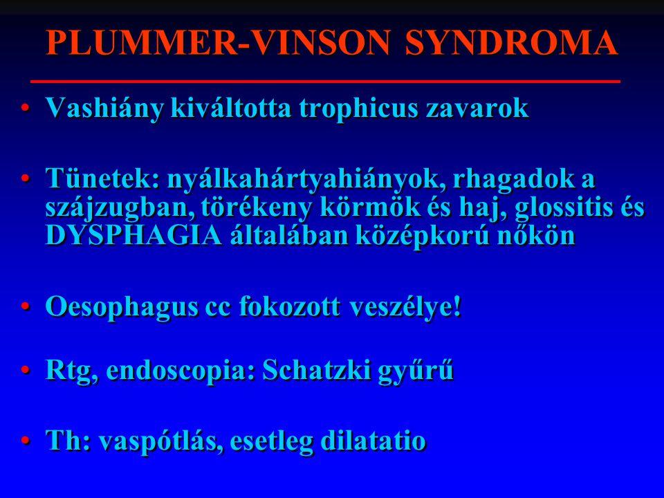 PLUMMER-VINSON SYNDROMA
