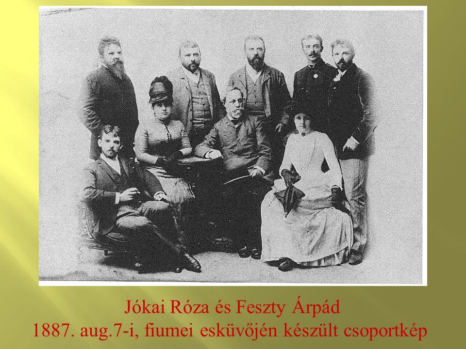 Jókai Róza és Feszty Árpád 1887. aug