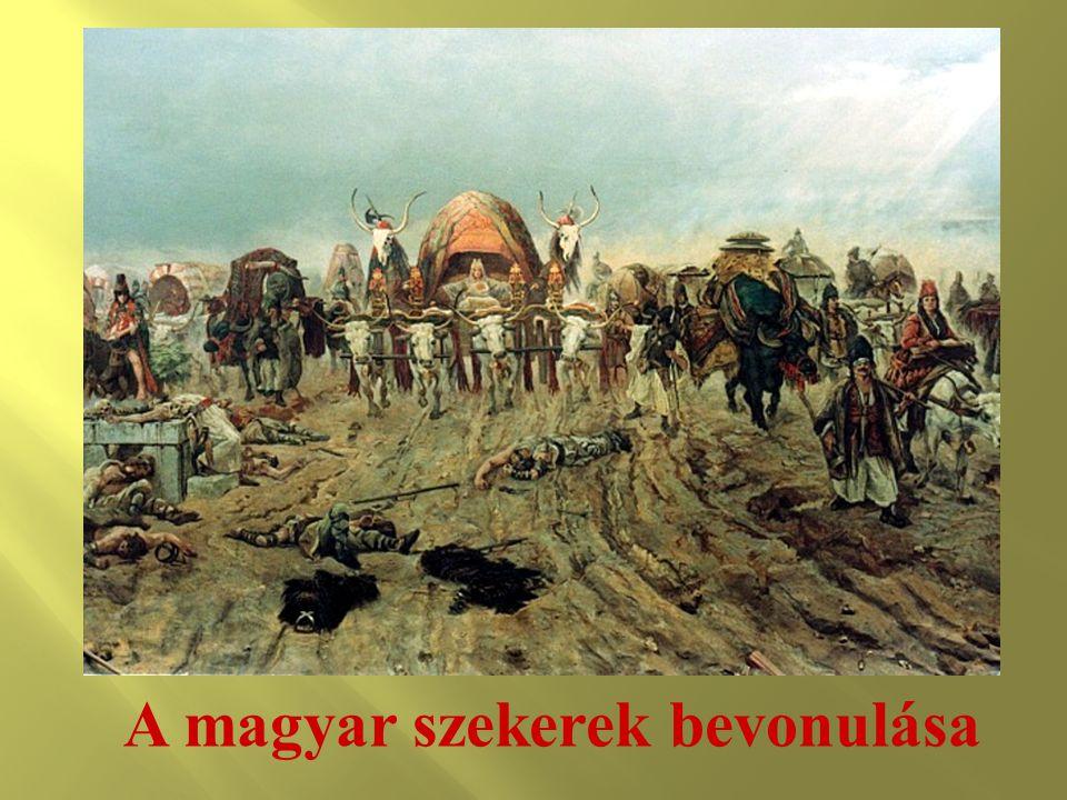 A magyar szekerek bevonulása