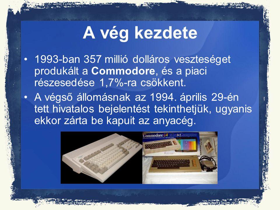 A vég kezdete 1993-ban 357 millió dolláros veszteséget produkált a Commodore, és a piaci részesedése 1,7%-ra csökkent.