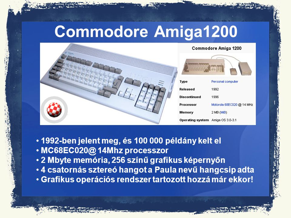 Commodore Amiga1200 1992-ben jelent meg, és 100 000 példány kelt el