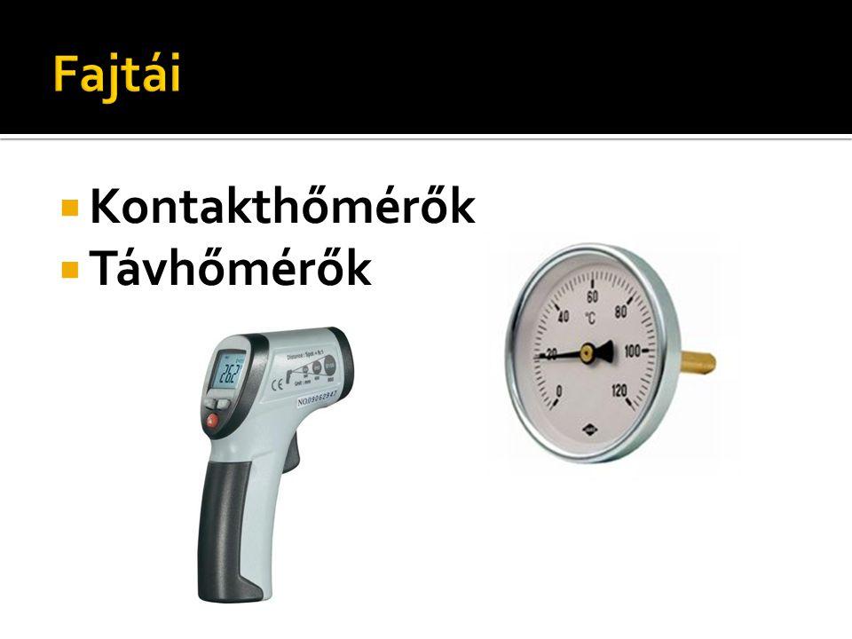 Fajtái Kontakthőmérők Távhőmérők