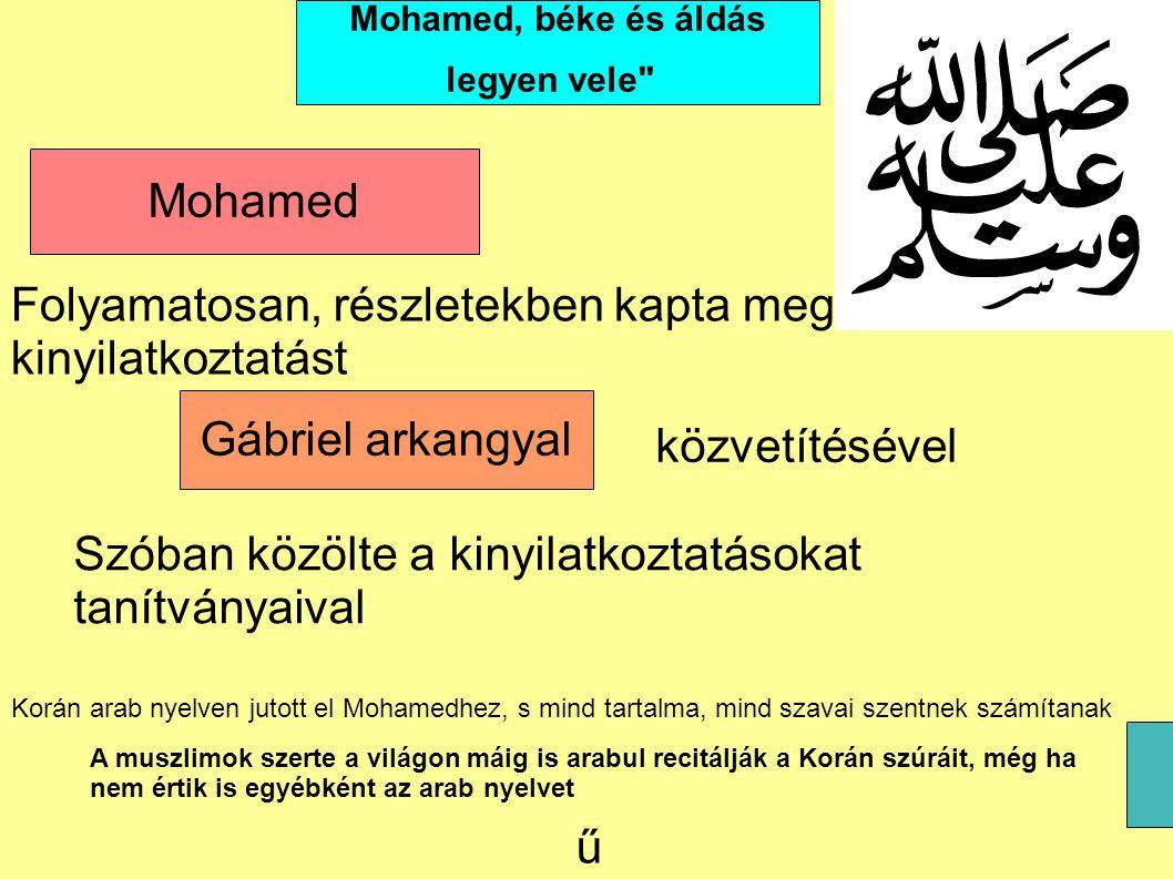 Mohamed, béke és áldás legyen vele