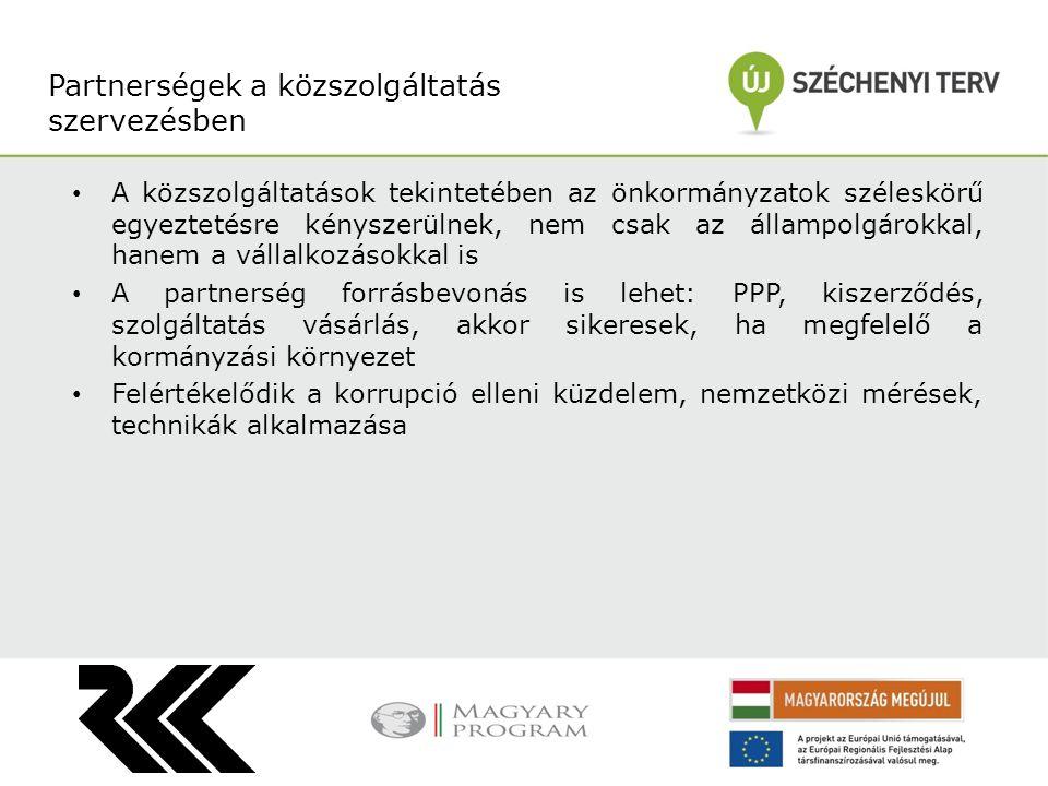 Partnerségek a közszolgáltatás szervezésben